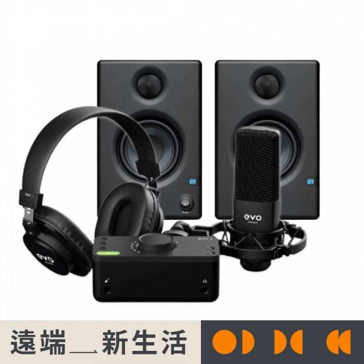 Audient EVO Start Recording Pack 錄音介面套組 + PreSonus Eris E3.5 專業監聽喇叭 | 遠端新生活