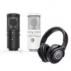 Superlux E205UMKII 電容式 USB麥克風 + Audio Technica 鐵三角 ATH-M40x 專業監聽耳機