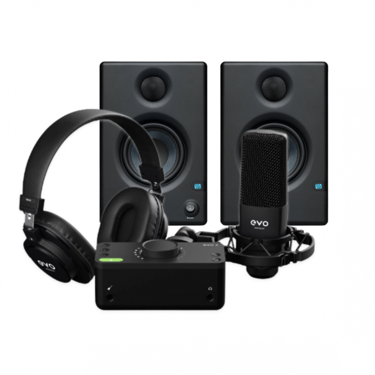 Audient EVO Start Recording Pack 錄音介面套組 + PreSonus Eris E3.5 專業監聽喇叭