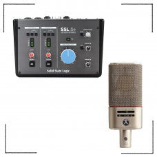 高階錄音組合 Solid State Logic SSL 2+ 錄音介面 + Austrian OC818 電容麥克風