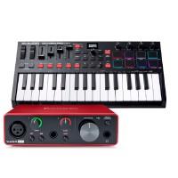 Focusrite Scarlett Solo 錄音介面 + M-Audio Oxygen Pro Mini 主控鍵盤|創作套裝