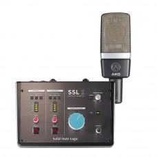 Solid State Logic SSL 2 錄音介面 + AKG C214 電容式麥克風|錄音套裝