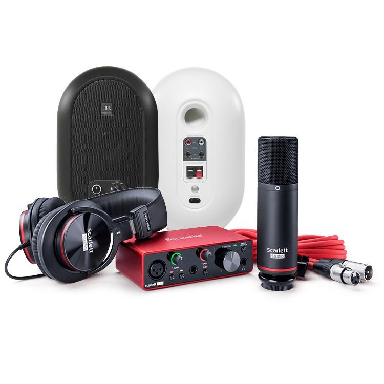 Focusrite Scarlett 第3代 Solo Studio 錄音介面套組 + JBL 104BT 藍芽同軸監聽喇叭|錄音監聽套裝組