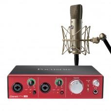 Focusrite Clarett 2Pre USB錄音介面 + Warm Audio WA87 R2 專業麥克風|錄音套裝