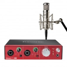 Focusrite Clarett 2Pre USB錄音介面 + Warm Audio WA47jr 專業麥克風|錄音套裝