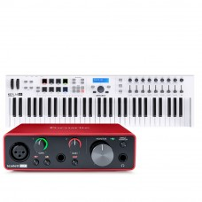 Focusrite Scarlett Solo 第3代 錄音介面 + Arturia Keylab Essential 61 MIDI主控鍵盤|創作套裝