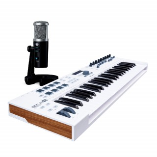 遠距教學鍵盤組合 Arturia Keylab Essential 49 主控鍵盤 + PreSonus Revelator 麥克風