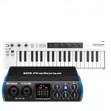 PreSonus Studio 24c 錄音介面 + Arturia KeyStep 37 MIDI 主控鍵盤|創作套裝