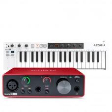 Focusrite Scarlett Solo 錄音介面 + Arturia KeyStep 37 主控鍵盤|創作套裝