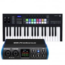 PreSonus Studio 24c 錄音介面 + Novation Launchkey 37 MK3 主控鍵盤|創作套裝