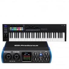 PreSonus Studio 24c 錄音介面 + Novation Launchkey 61 MK3 主控鍵盤|創作套裝