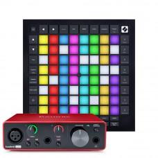 Focusrite Scarlett Solo 第3代 錄音介面 + Novation LaunchPad Pro MK3 MIDI控制器(節奏打擊墊)|創作套裝