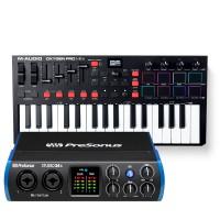 PreSonus Studio 24c 錄音介面 + M-Audio Oxygen Pro Mini 主控鍵盤|創作套裝