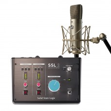 Solid State Logic SSL 2 錄音介面 + Warm Audio WA87 R2 專業麥克風|錄音套裝